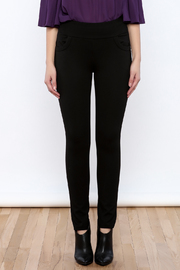 Gracia Black Stretchable Pants - Side cropped