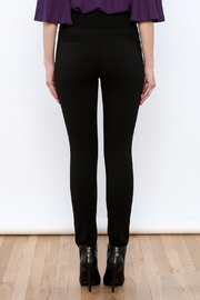Gracia Black Stretchable Pants - Back cropped