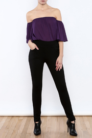 Gracia Black Stretchable Pants - Front full body