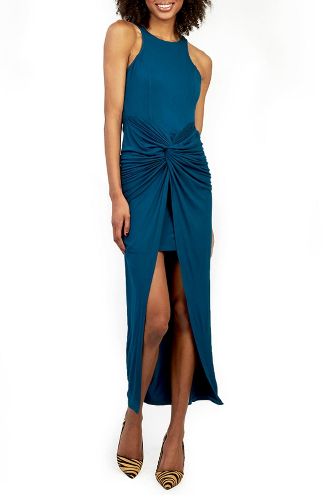 Gracia Blue Twist Dress - Main Image