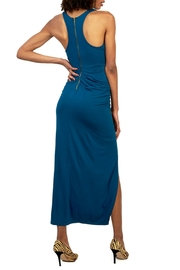 Gracia Blue Twist Dress - Front full body