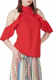 Gracia Cold Shoulder Blouse - Product Mini Image