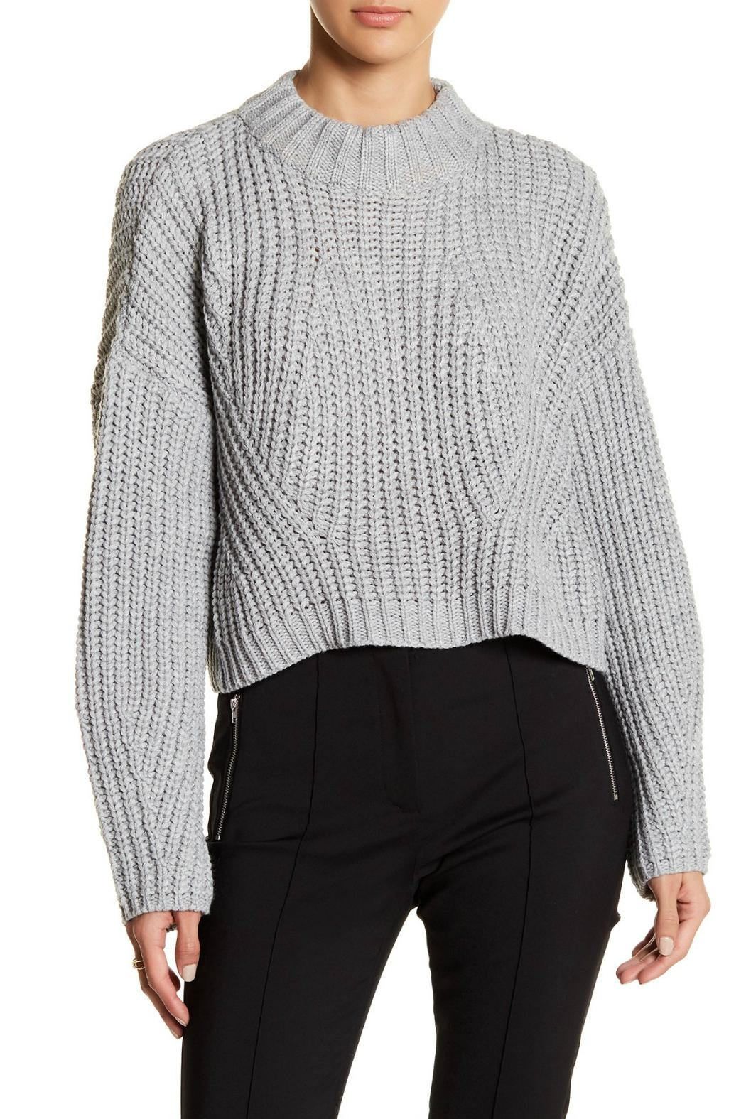 Gracia Cropped Turtleneck Sweater - Main Image