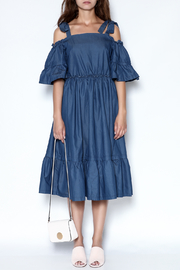 Gracia Denim Midi Dress - Product Mini Image