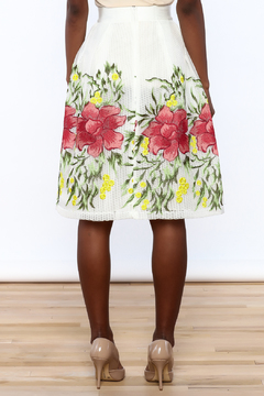 Shoptiques Product: Embroidered Floral Skirt