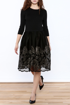 Shoptiques Product: Embroidered Net Dress