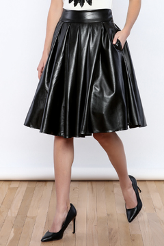 Shoptiques Product: Faux Leather Skirt