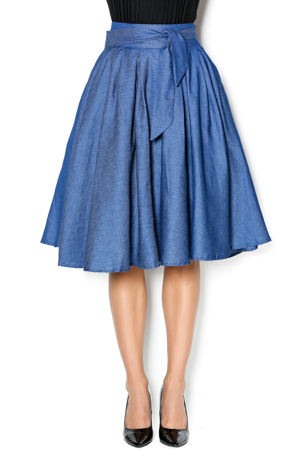 Flowy Denim Skirt — Shoptiques