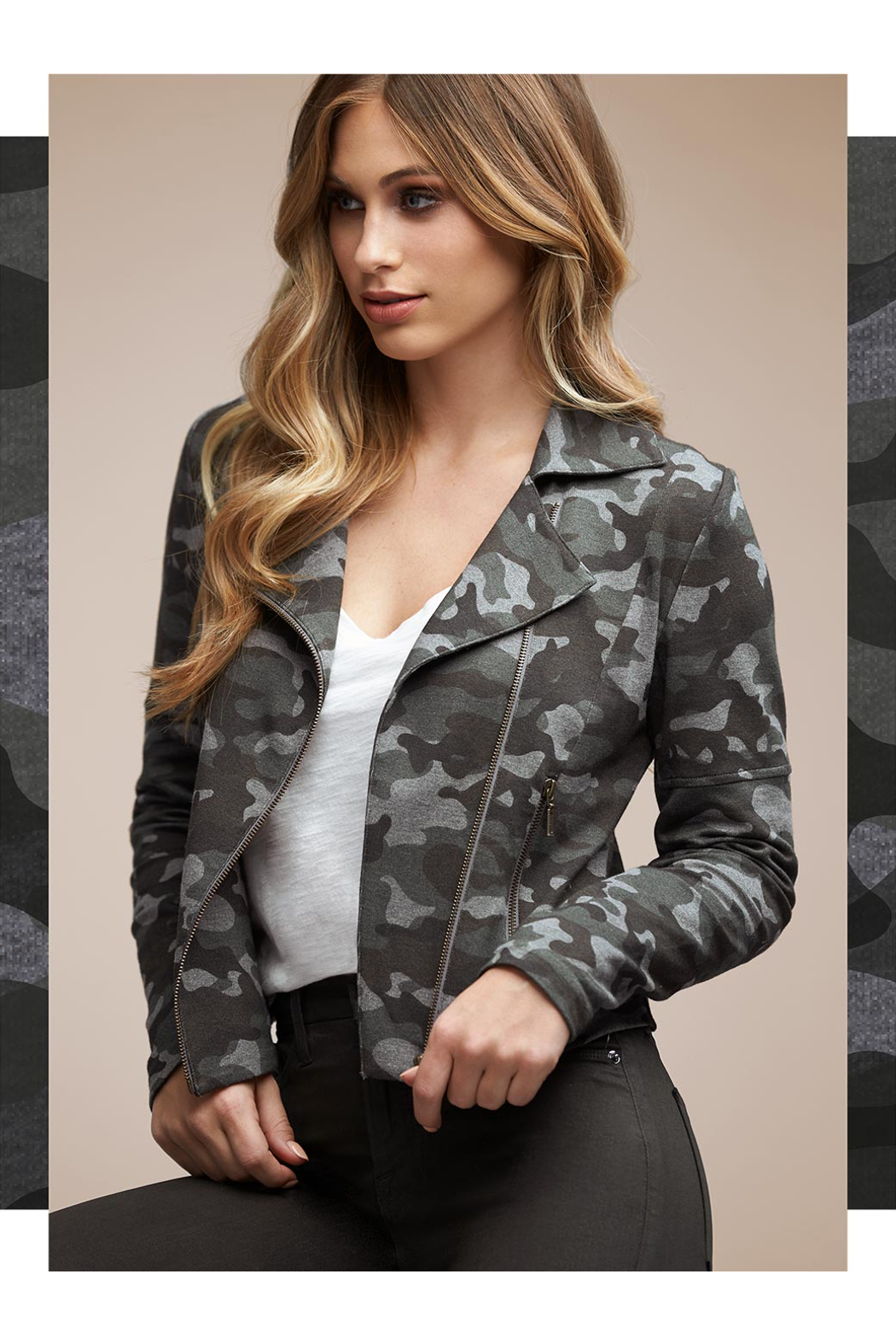 Tart Collections Gracia French Terry Moto Jacket - Main Image