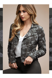 Tart Collections Gracia French Terry Moto Jacket - Front cropped