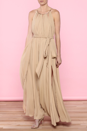 Gracia Nude Maxi Dress - Product Mini Image