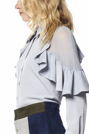 Gracia Grey Ruffle Blouse - Product Mini Image