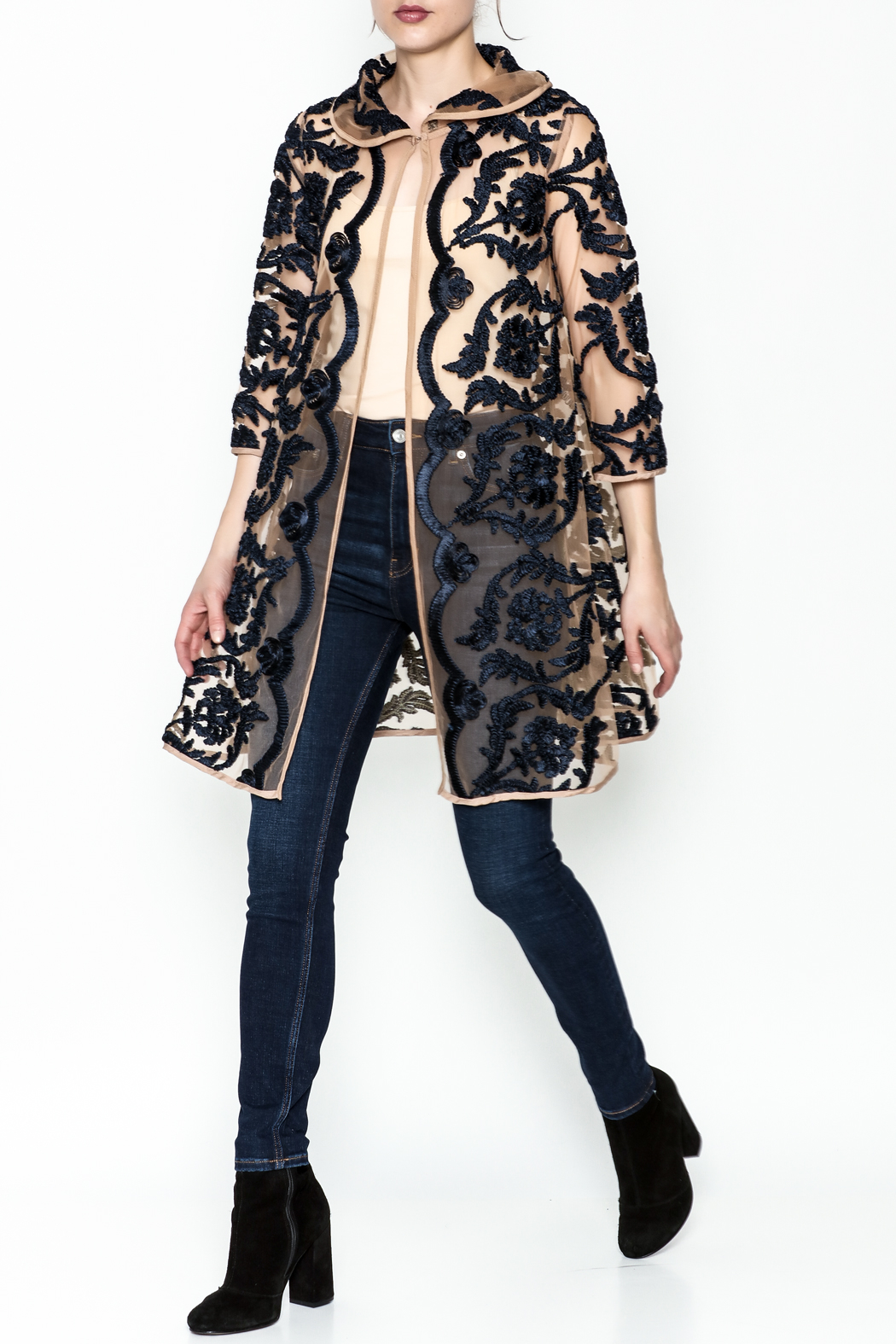 Gracia Embroidered Jacket - Side Cropped Image
