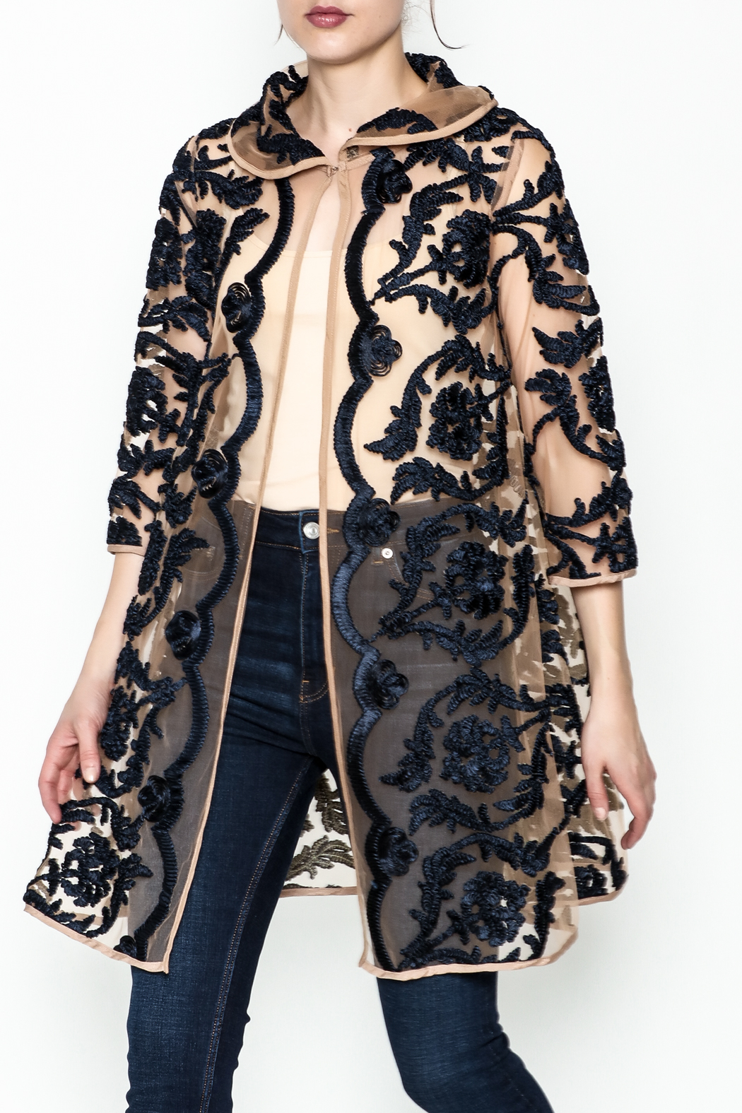 Gracia Embroidered Jacket - Main Image