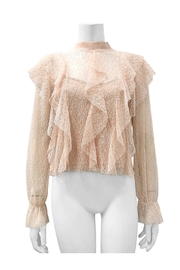 Gracia Lace See-Through Top - Front cropped