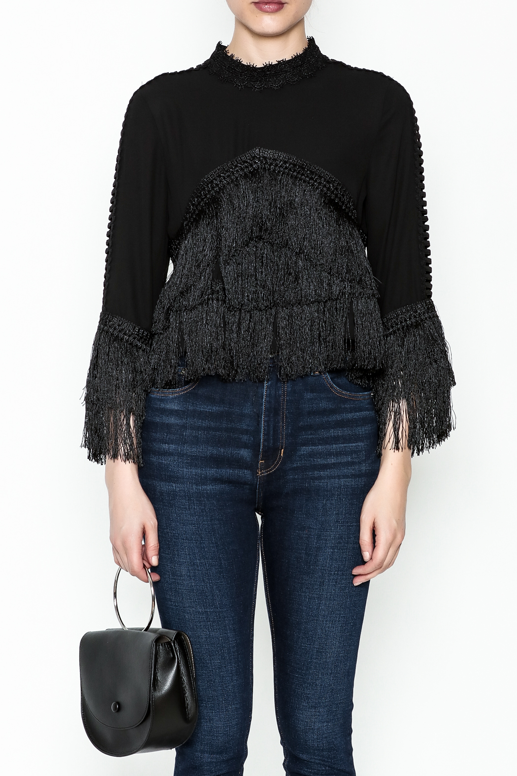 Gracia Layered Fringe Top - Front Full Image