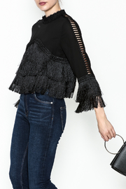 Gracia Layered Fringe Top - Front cropped