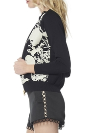 Gracia Leaf Embroidery Jacket - Front full body