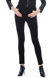 Gracia Leather Detail Pants - Product Mini Image