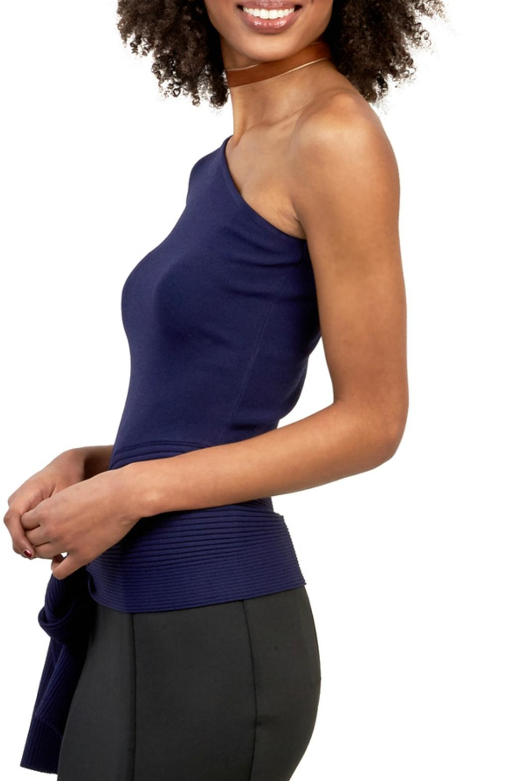 Gracia Ribbed One Shoulder Top - Front Full Image