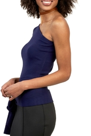 Gracia Ribbed One Shoulder Top - Front full body