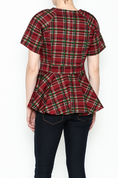 Gracia Short Sleeve Plaid Jacket - Alternate List Image