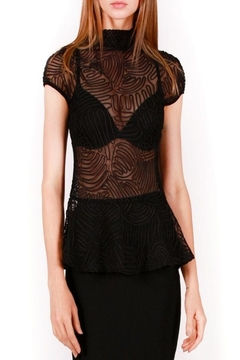 Gracia Black Ruched Top - Product List Image