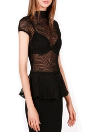 Gracia Black Ruched Top - Front full body