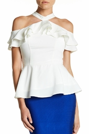 Gracia Ruffle Halter Shirt - Product Mini Image
