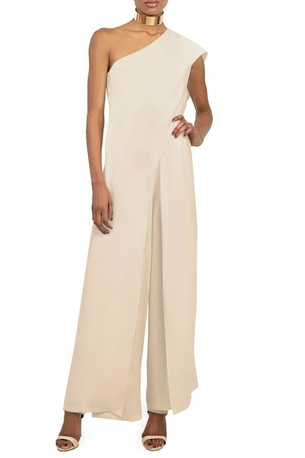 Gracia Ruffle Layered Jumpsuit - Front Cropped Image