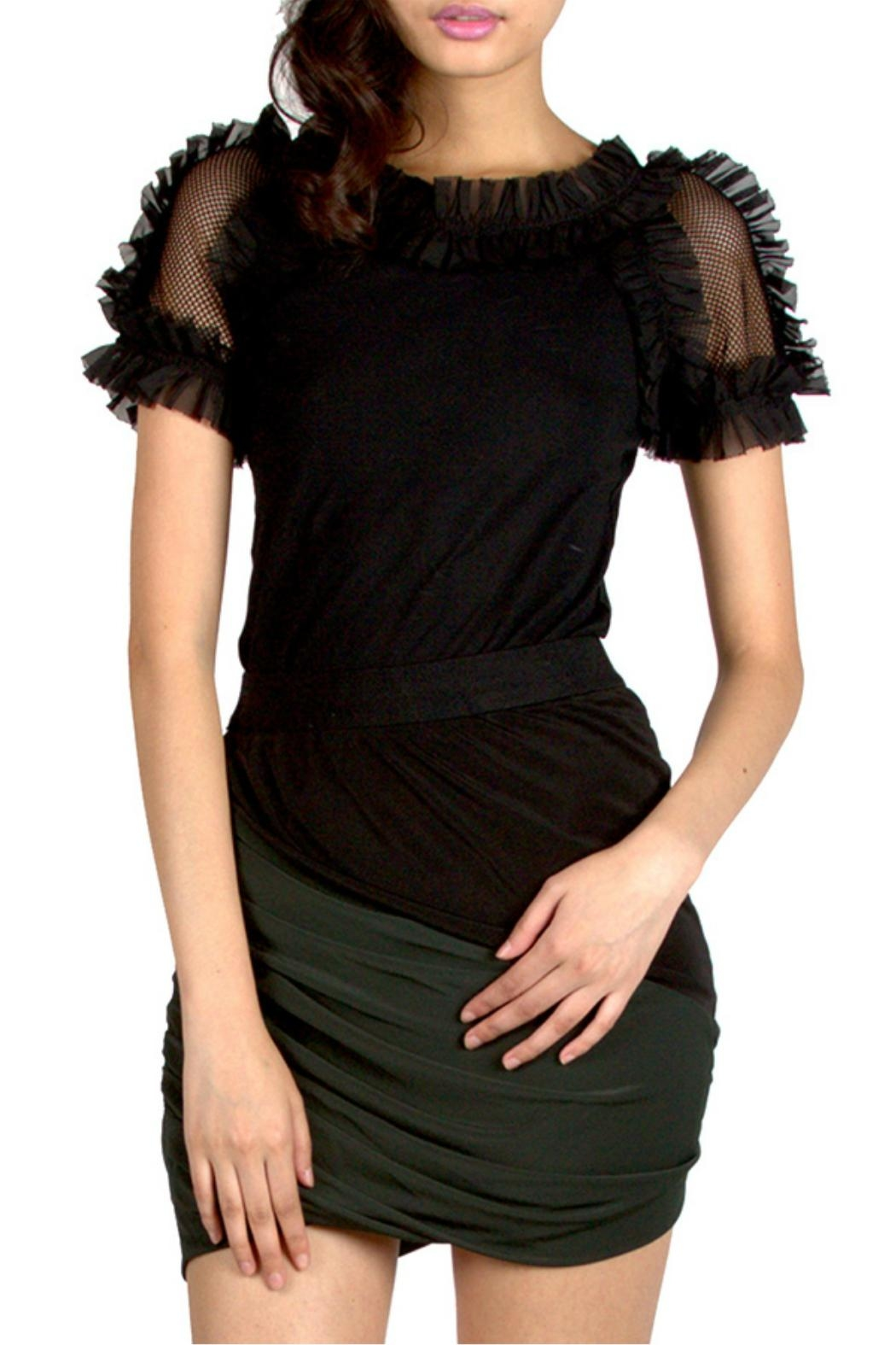 Gracia Ruffle Sleeve t-Shirt - Main Image