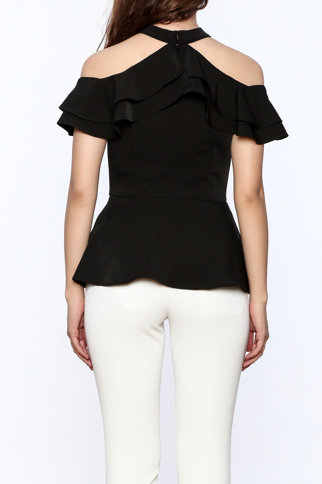 Gracia Ruffle Sleeveless Top - Back Cropped Image