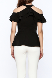 Gracia Ruffle Sleeveless Top - Back cropped