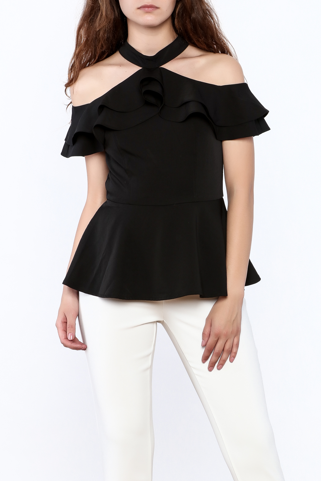 Gracia Ruffle Sleeveless Top - Main Image