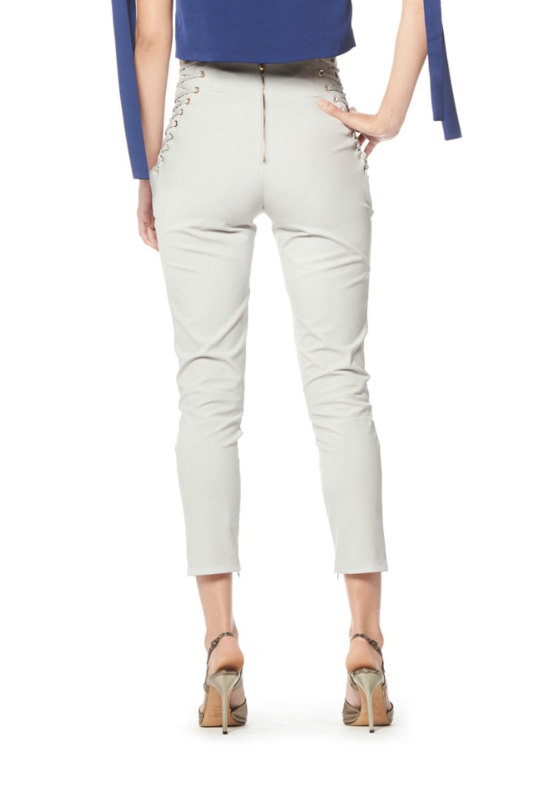 Gracia Side String Pants - Side Cropped Image