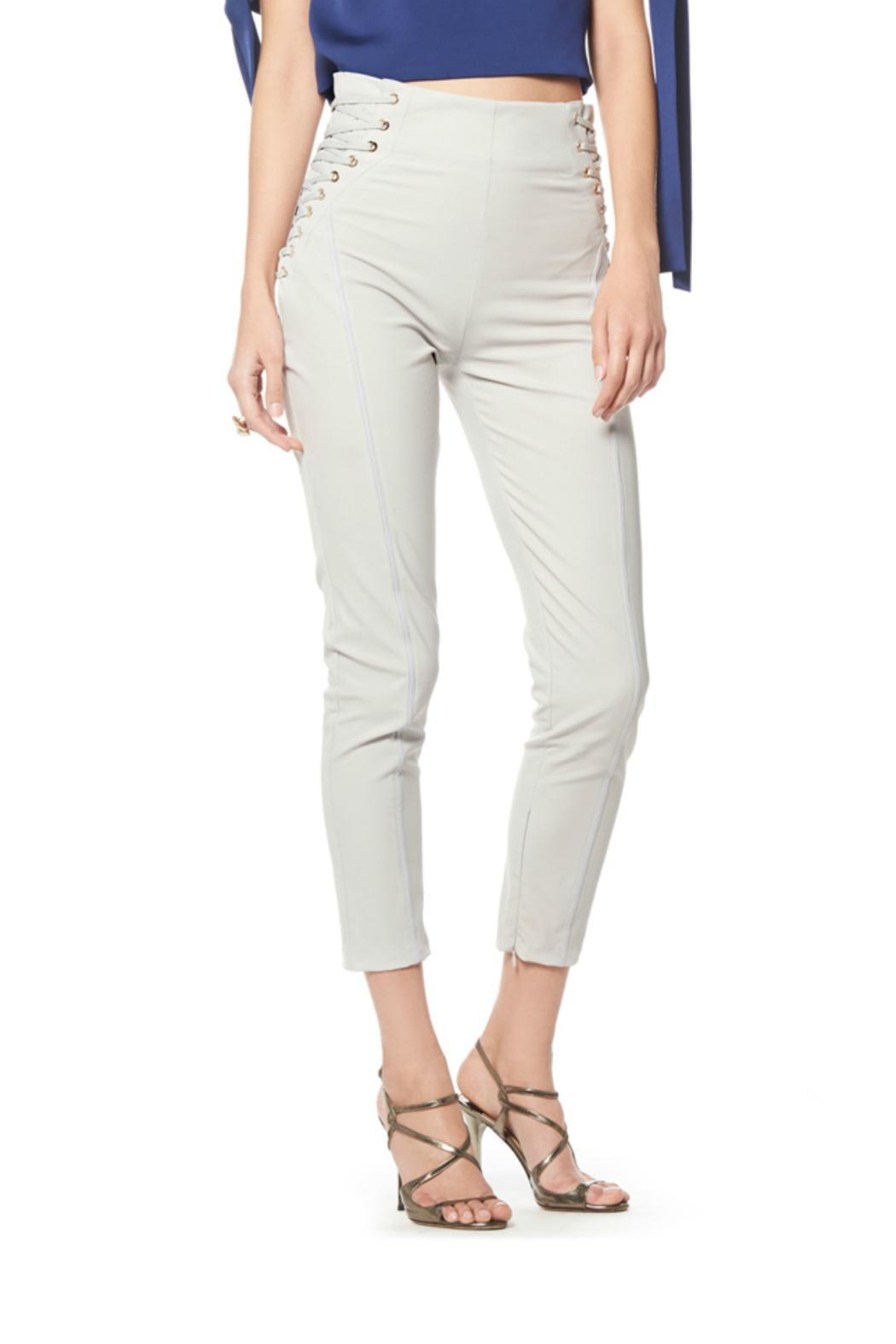 Gracia Side String Pants - Front Cropped Image