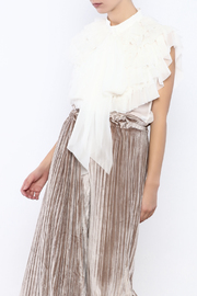 Gracia Soft Ruffle Top - Front cropped