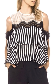 Gracia Striped Cold Shoulder Top - Product Mini Image