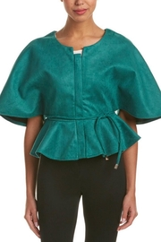 Gracia Suede Cape Jacket - Product Mini Image