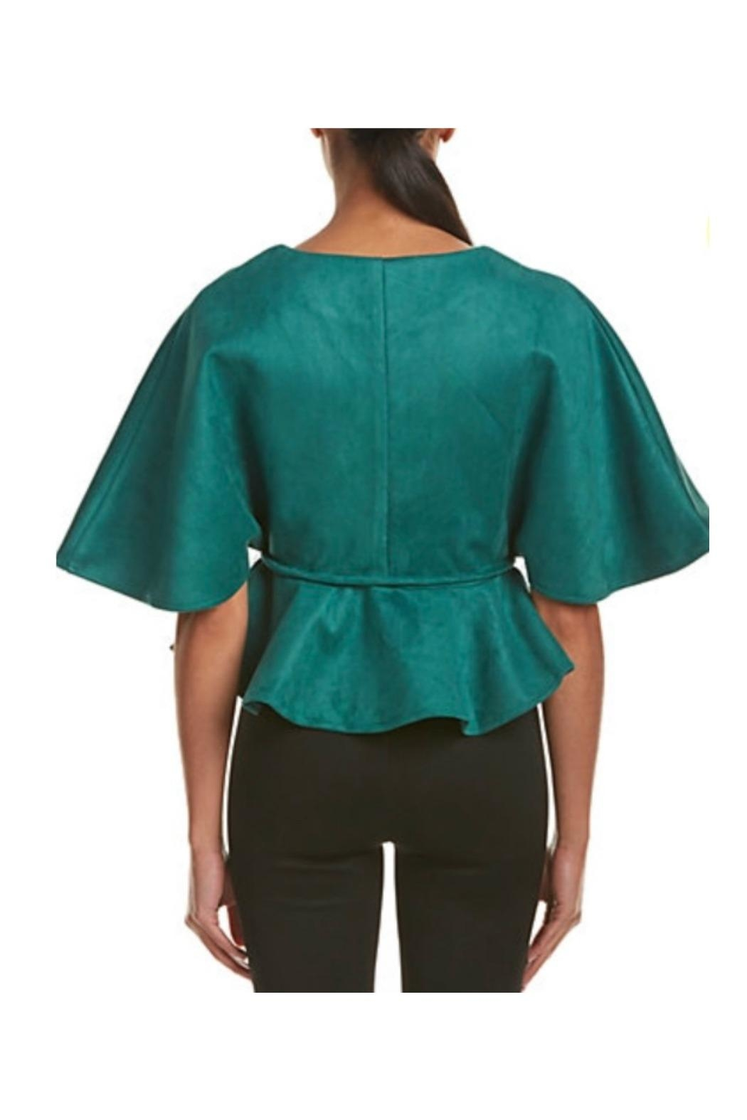 Gracia Suede Cape Jacket - Front Full Image