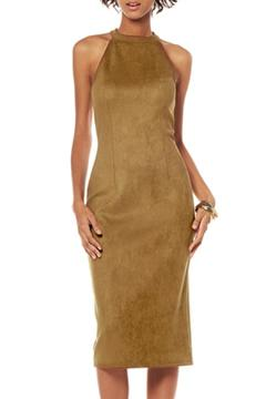 Shoptiques Product: Suede Fitted Dress