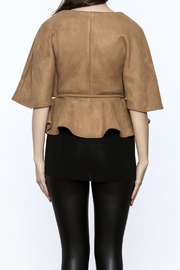 Gracia Ultra-Suede Cape Jacket - Back cropped