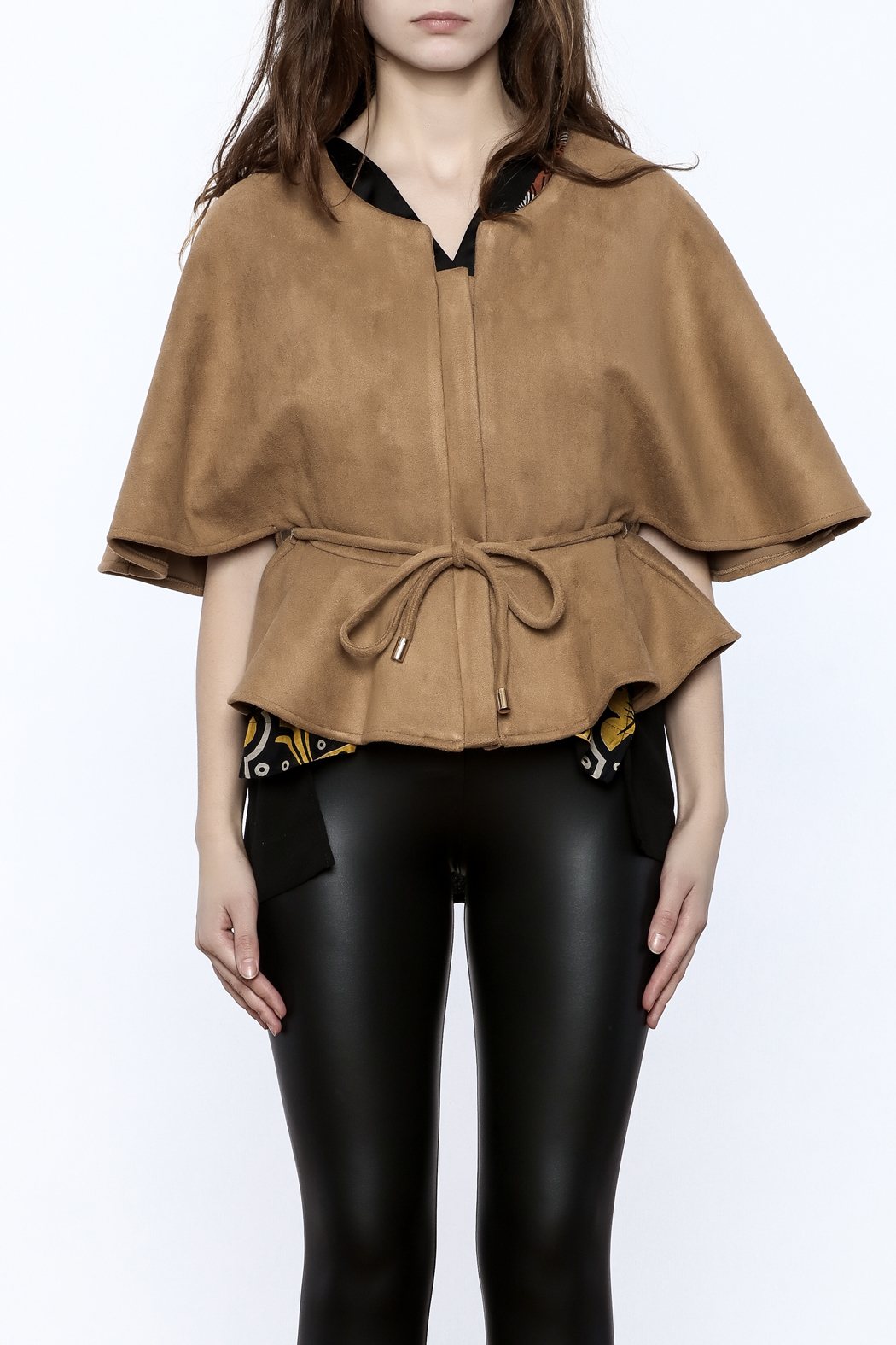 Gracia Ultra-Suede Cape Jacket - Side Cropped Image