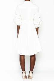 Gracia White High Low Dress - Back cropped