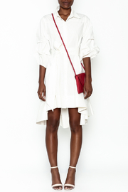 Gracia White High Low Dress - Front full body