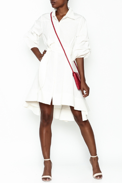 Gracia White High Low Dress - Product List Image