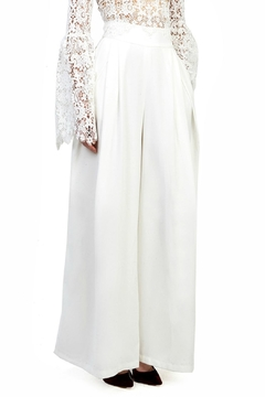 Gracia White Wide Leg Pants - Alternate List Image
