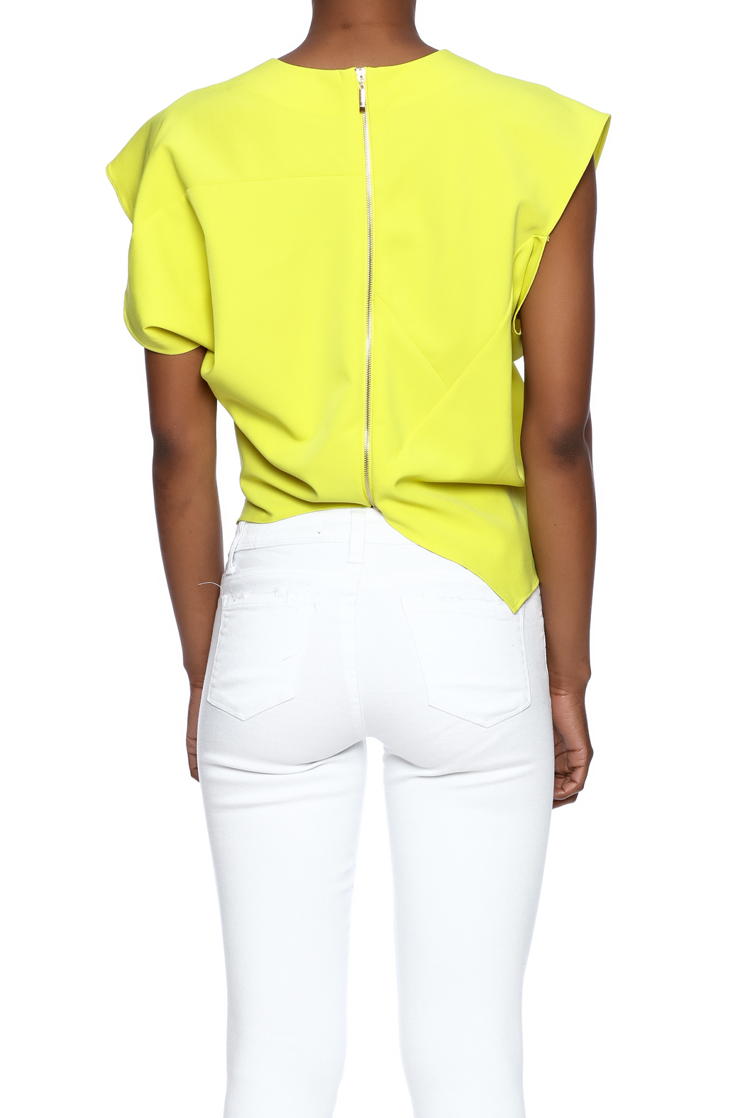 Gracia Yellow Origami Top from West Village by Pink ... - photo#3
