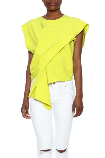 Gracia Yellow Origami Top From West Village By Pink Penguin Shoptiques