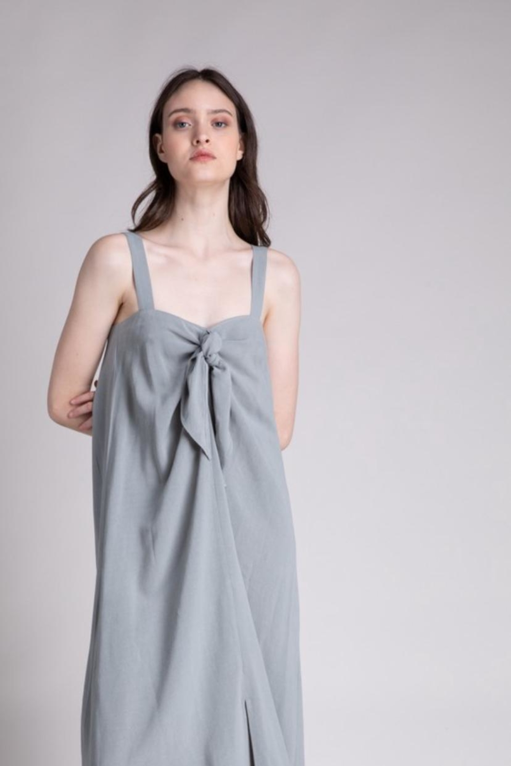 Grade & Gather  Dried Thyme Dress - Front Full Image